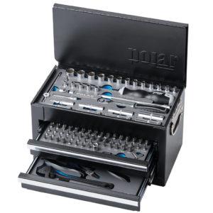 Værktøjskasse med værktøjssæt – 141 dele