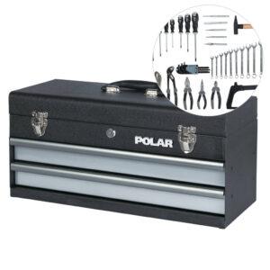 Værktøjskasse med værktøjssæt – 66 dele