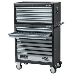 MEGA 1000+ værktøjsvogn med 1129 dele