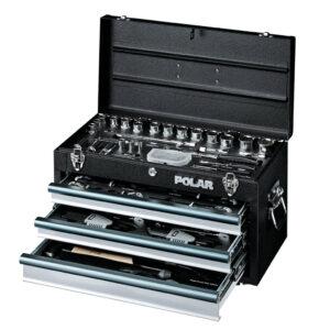 Værktøjskasse med værktøjssæt – 119 dele